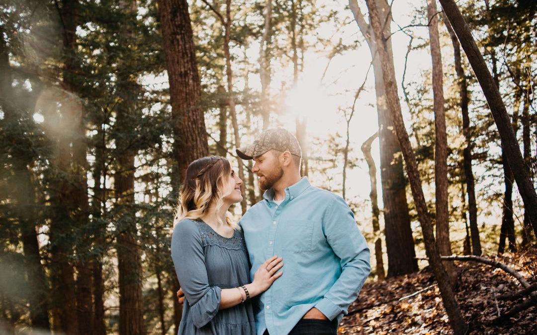 Carissa & Chris | Hoffmaster State Park Engagement