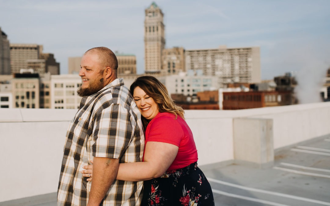 Ashleigh & Chris | Downtown Detroit Engagement
