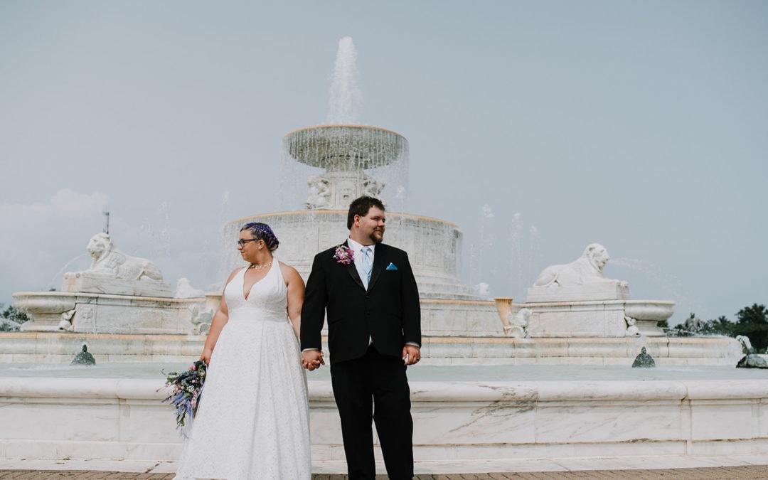 Belle Isle Fountain Wedding | Alisha & Joshua