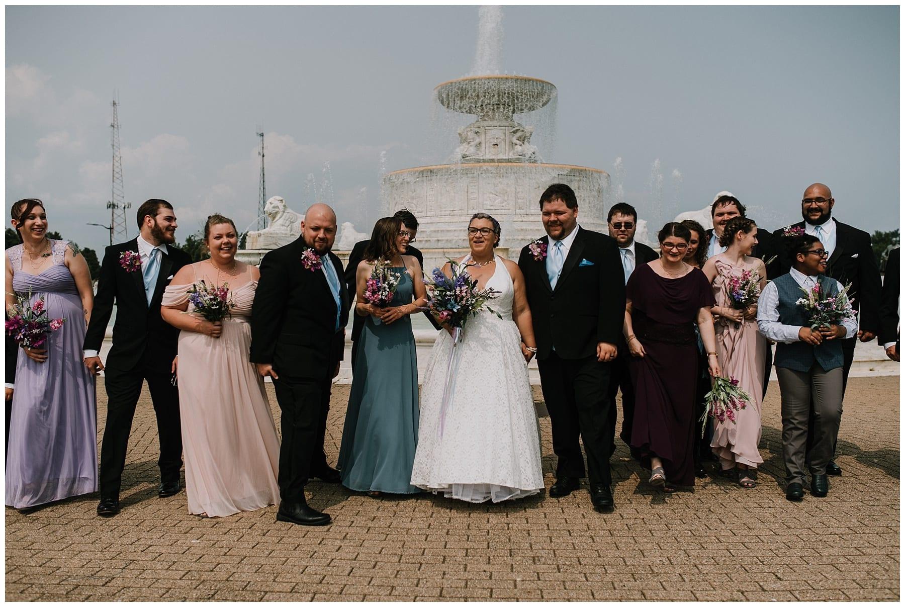 Belle Isle Fountain Wedding
