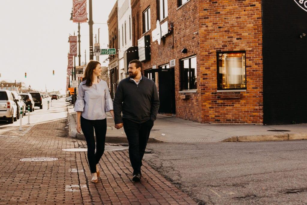 Corktown Detroit Engagement Session
