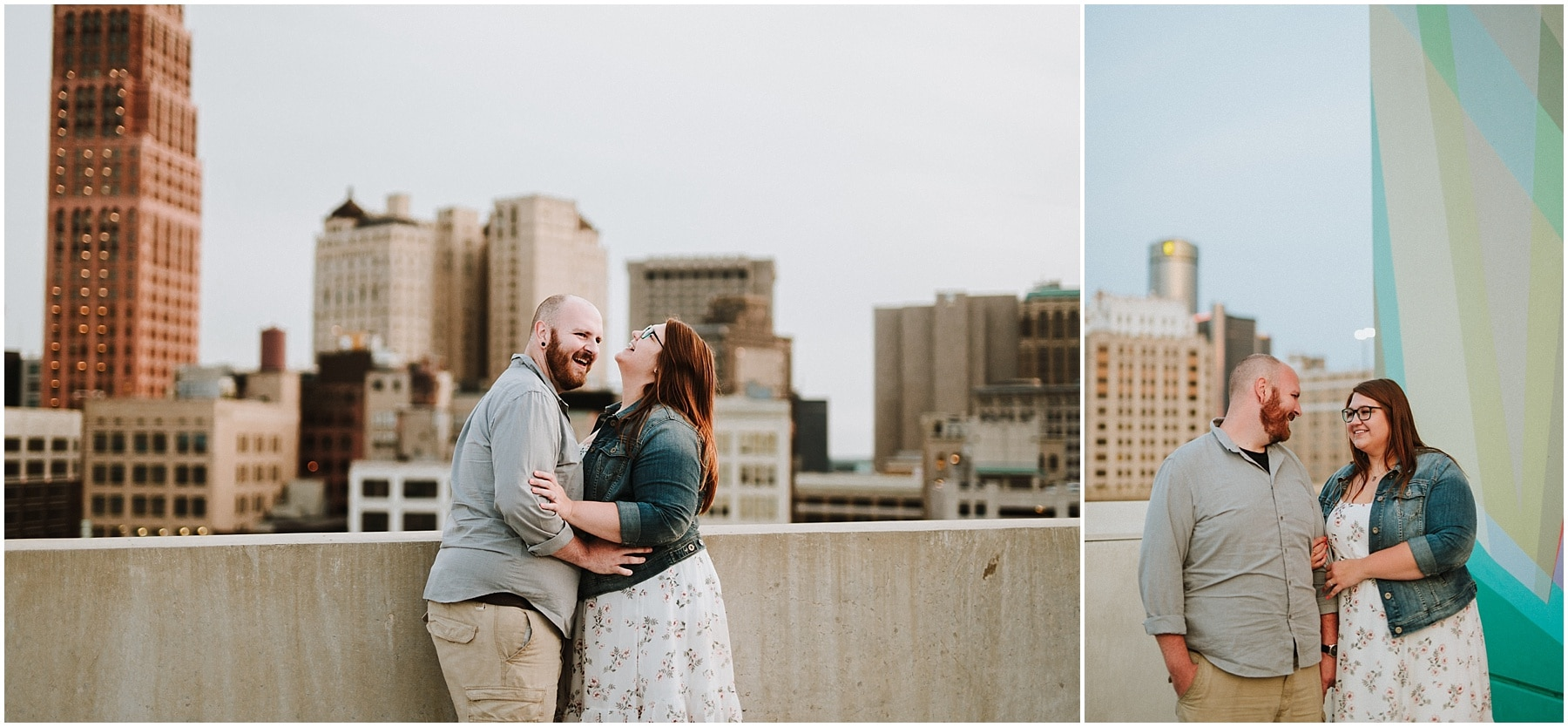 Downtown Detroit Dequindre Cut engagement session