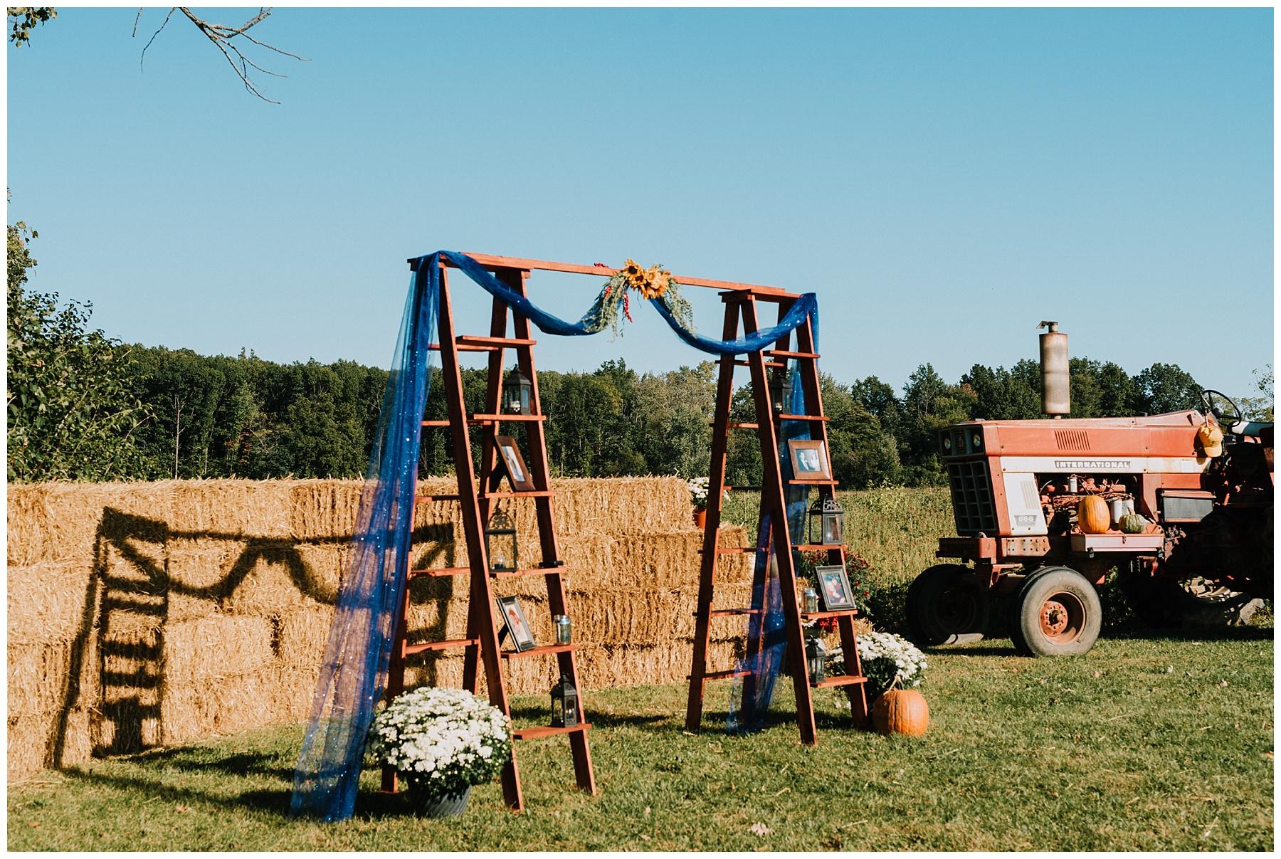 Fall Backyard Wedding Michigan
