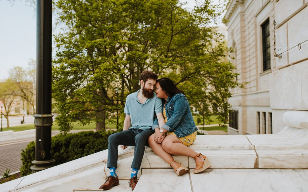 Downtown Detroit Engagement Session |  Dani & Matt