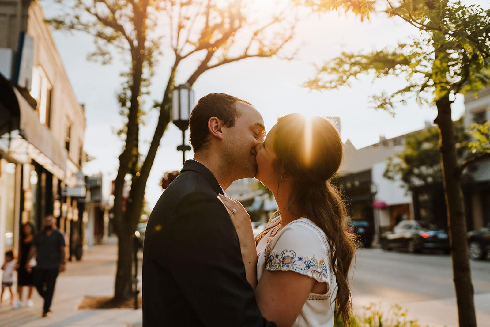 downtown birmingham engagement session