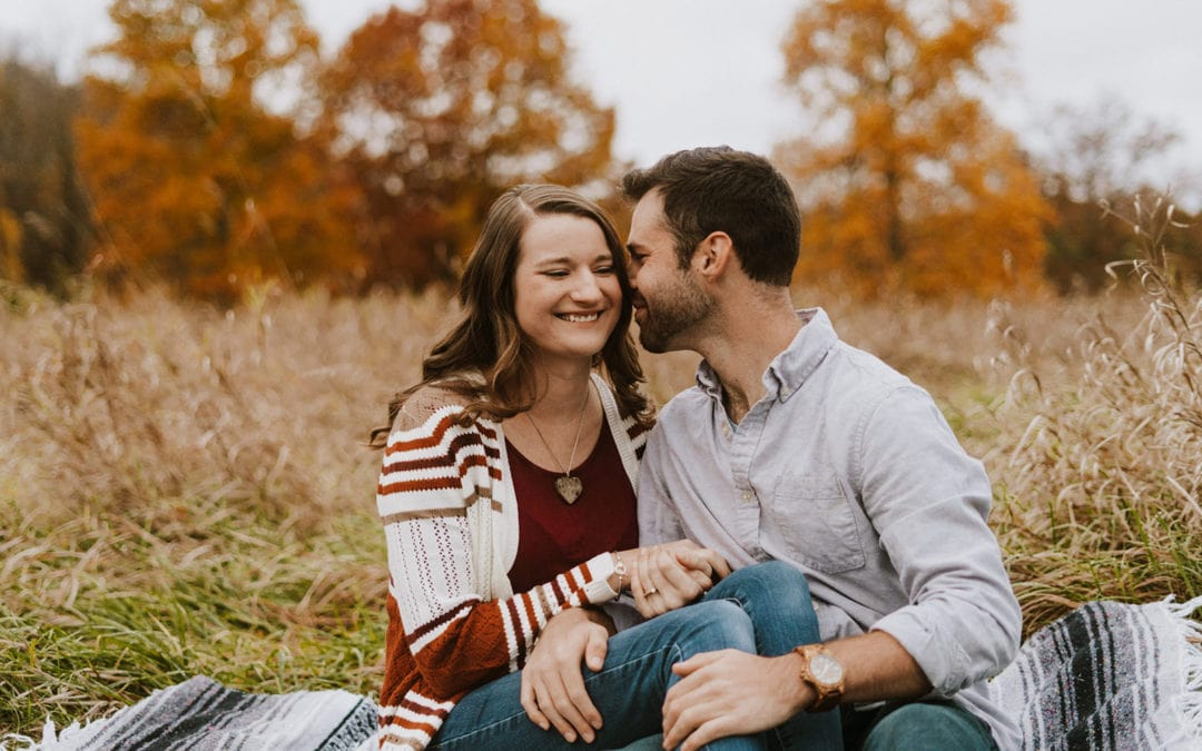 Fall Maybury State Park Engagement | Nick & Alysia