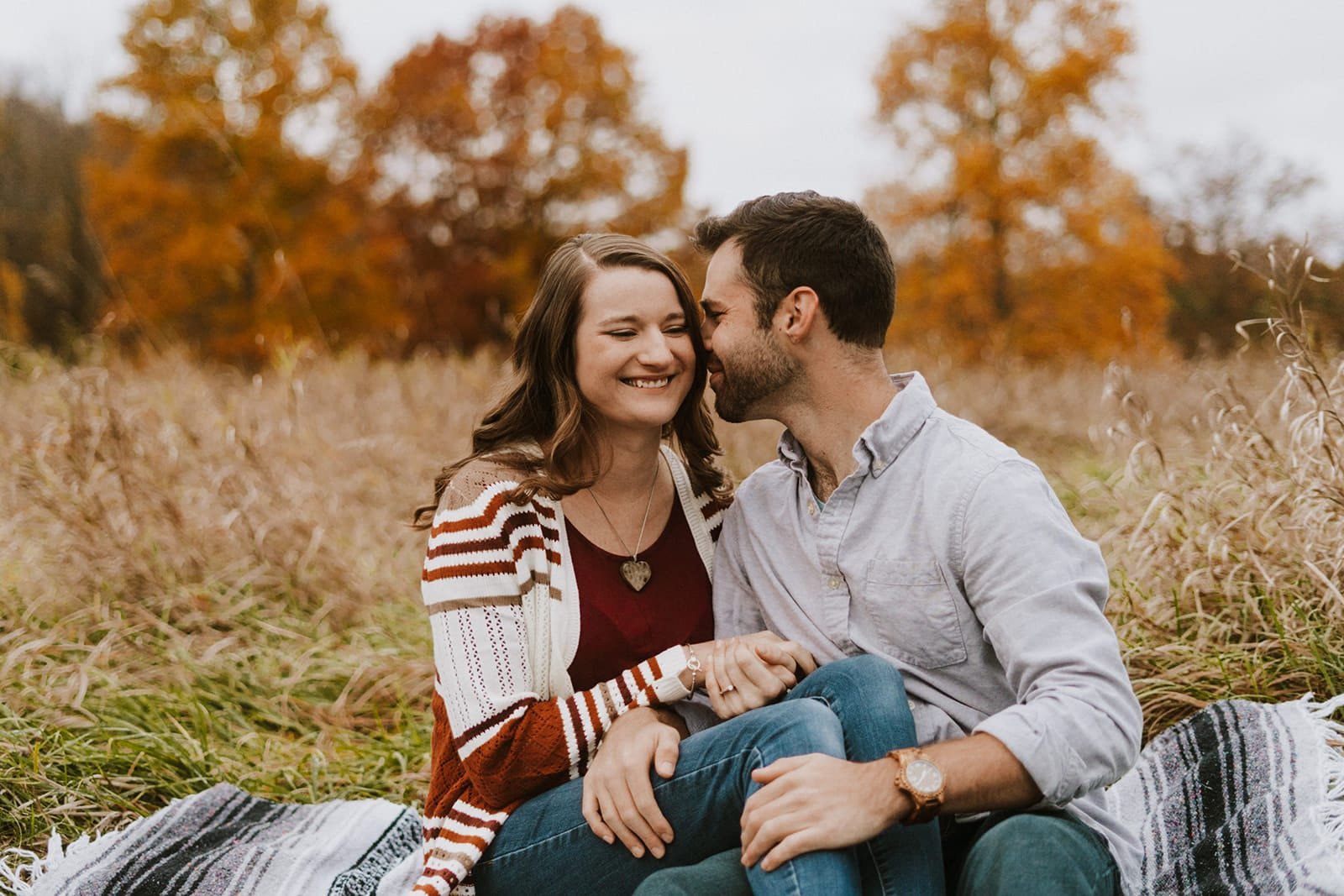 Fall Maybury State Park Engagement   Nick & Alysia