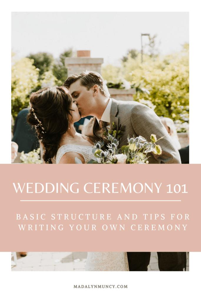 wedding ceremony 101 basic structure