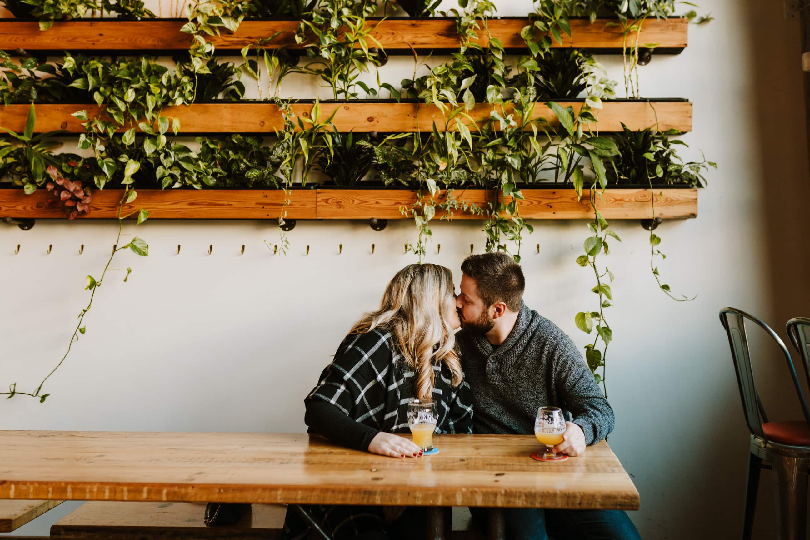 Detroit Brewery Engagement Session | Alison & Tom