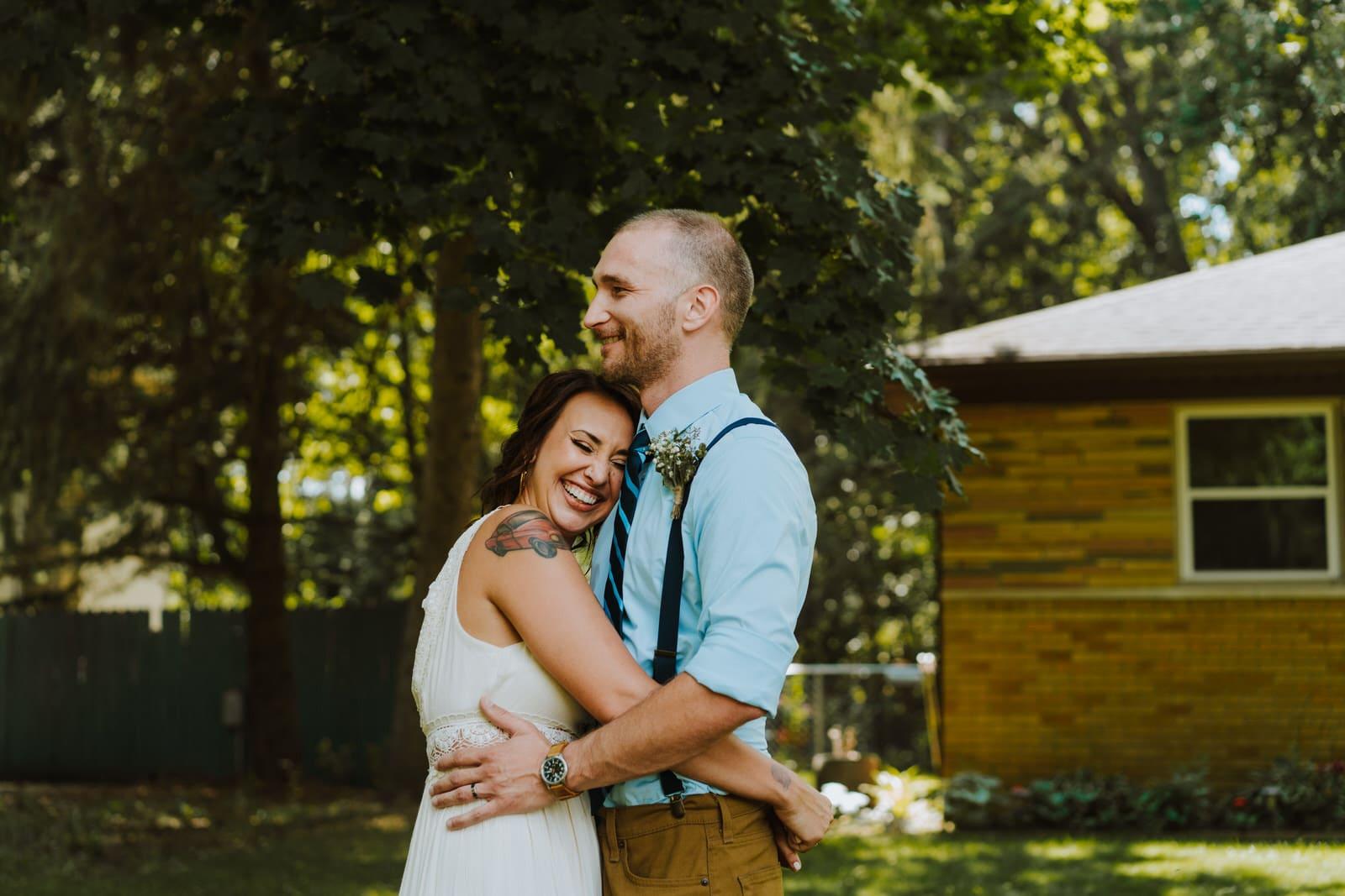summer backyard wedding