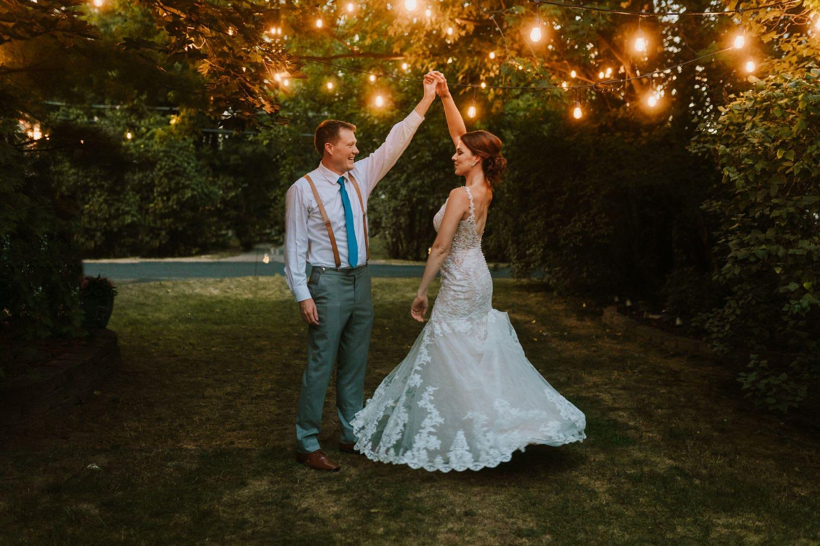 summer detroit backyard wedding