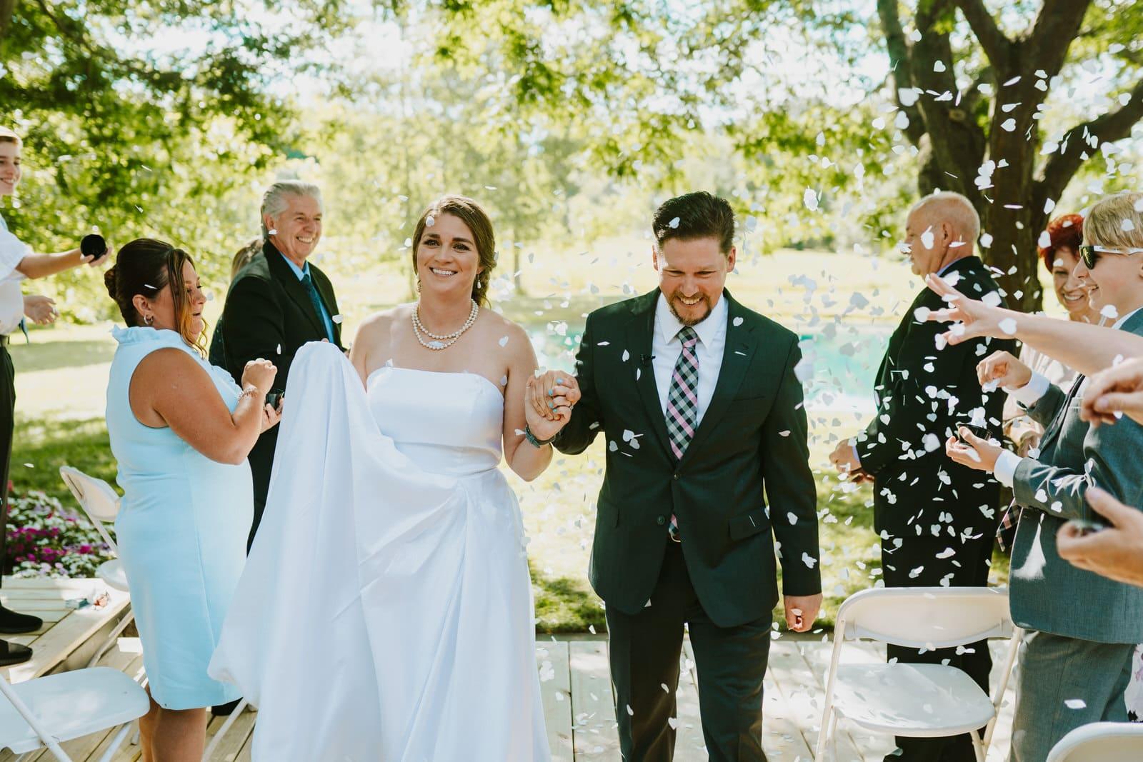intimate backyard wedding